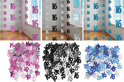16th Birthday/Anniversary Hanging String Foil Banner Party Door Wall Decorations