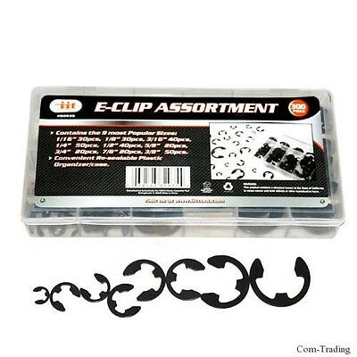 300-PC. E-Clip Retaining Ring Assortment Shop Auto Car Carburetor Repair E Clips
