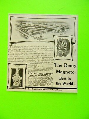 1910 The Remy Magneto Best In The World Cobe Trophy Small Art Ad