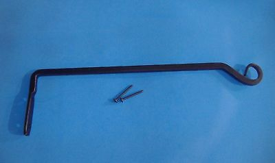 "14"" Black Wrought Iron Finish Plant Bracket Hanger Hanging"