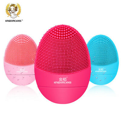 Facial Cleansing Brush Sonic Vibration Mini Face Cleaner Silicone Deep Pore
