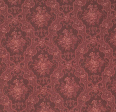 1/12 Scale Elegant English Rose Dollhouse Wallpaper by Mini Graphics #MG214D2