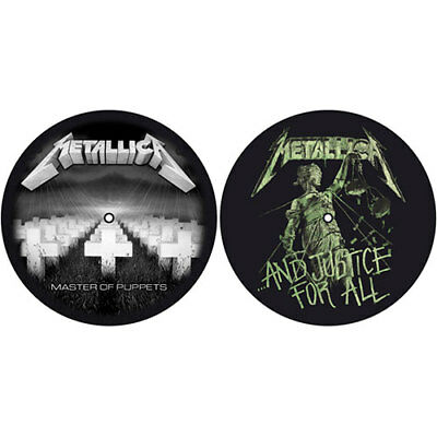 METALLICA Master Of Puppets And Justice For All Slipmat Set DJ Turntable New