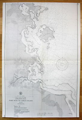 Philippine Islands West Coast Luzon Lingayen Gulf Port Sual Comas Island map