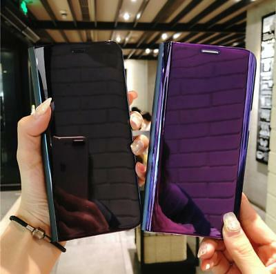 Samsung Galaxy S9/S8/Plus Smart View Mirror Wallet Leather Flip Stand Case Cover