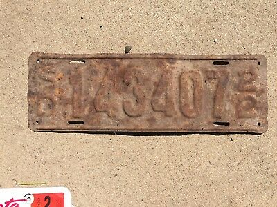 1922 South Dakota  license plate