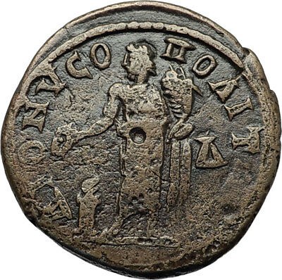 SEVERUS ALEXANDER Authentic Ancient DIONYSOPOLIS Roman Coin w GREAT GOD i71088