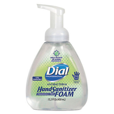 Dial Professional Antibacterial Foaming Hand Sanitizer, 15.2 oz Pump Bottle,