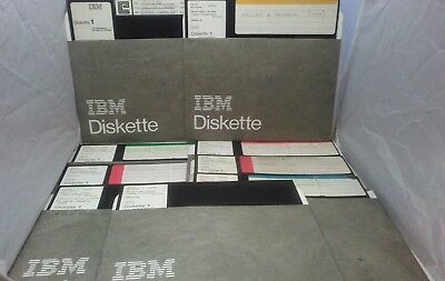 "9 IBM Diskette 1 128 Bytes Used 8"" Floppy Disks Aviation Part Numbers Vector"