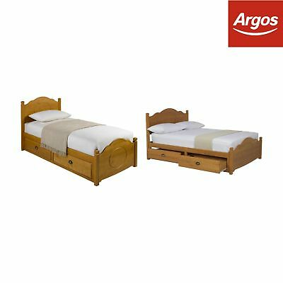 Argos Home Sherington Antique Pine Bed - Single / Double / King