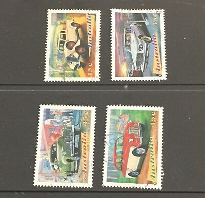 Australian 1997 Australia Classic Cars  set of 4 Sheet stamps, used Off Paper
