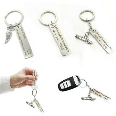 Drive Safe Handsome Keychain Trucker Pendant for Husband Key Ring Car key Chain