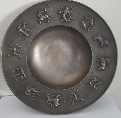 Pewter Horoscope / Astrology Wall Plate / Bowl