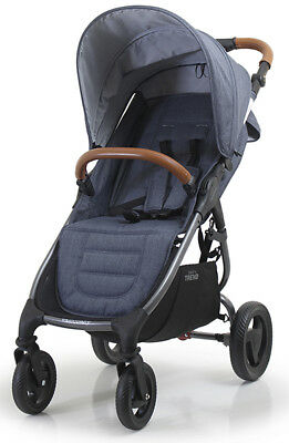 Valco Baby Snap 4 Trend Compact Fold Lightweight Single Stroller Denim NEW
