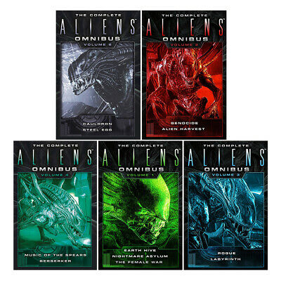 Complete Aliens Omnibus Volume (1-5) Earth Hive Genocide 5 Books Collection Set