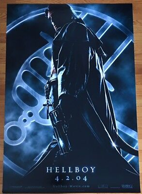 HELLBOY Original 2004 Advance One-Sheet DS 27x40 Rolled Movie Poster