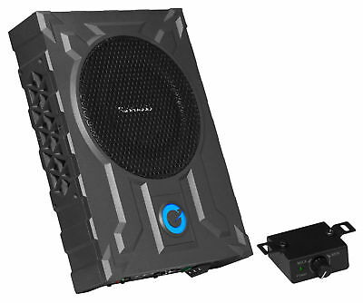 """Planet Audio PA8W 8"""" 800w Slim Under-Seat Active Powered Car/Truck Subwoofer Sub"""