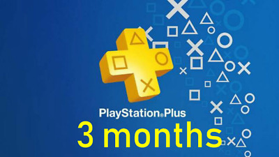 Playstation Plus 3 Months(No Code)