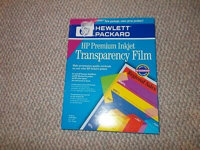 HP Premium InkJet Transparency Film 35 Sheets (C3834A)