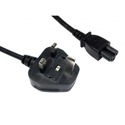 3m Long UK Plug to C5 Clover Leaf Power Cable Cloverleaf Mains Lead