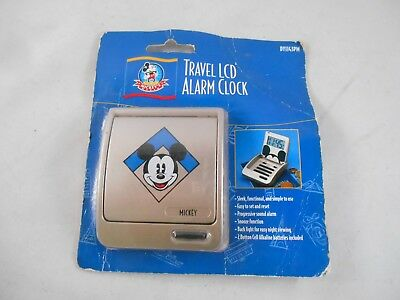 Disney Mickey Mouse LCD Travel Alarm Clock Includes Batteries