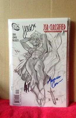 Jsa Classified  # 1 Signed Sketchvariant Connor Hughes Palmiiotti Coa Dc Comics