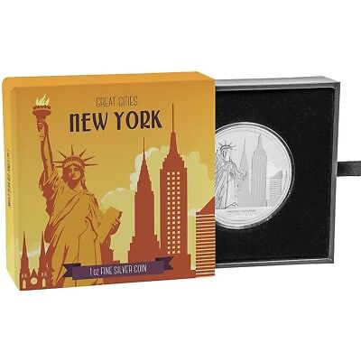 2017 Great Cities - New York 1 oz. Silver Proof $2 Coin W/OGP