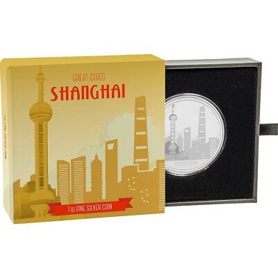 2017 Great Cities - Shanghai 1 oz. Silver Proof $2 Coin W/OGP