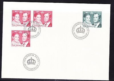 Sweden 1976 Royal Wedding  First Day Cover  Unaddressed