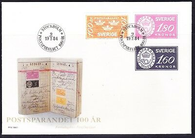 Sweden 1984 Cent Postal Savings Bank Illustrated First Day Cover  Unaddressed