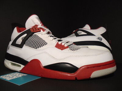 size 40 493ae f4ae4 2006 Nike Air Jordan Iv 4 Retro Mars Fire Red White Black Cement 308497-162