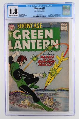 Showcase #22 - CGC 1.8 GD- DC 1959 - 1st App & Origin of The S.A. Green Lantern!
