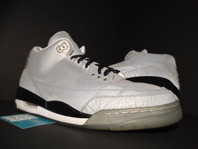 22ee9ace3937 Nike Air Jordan Iii 3 Retro 5Lab3 Reflect Silver 3M Black White Og 631603 -003