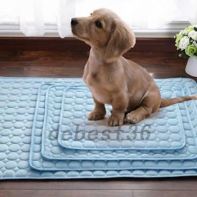 Chilly Mat Cooling Pet Dog Cat Bed Indoor Summer Cool Gel Pad Viscose Mats New