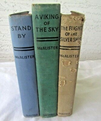Lot of 3 Hugh McAlister Books A Viking of the Sky, Stand By, Staging Decorative