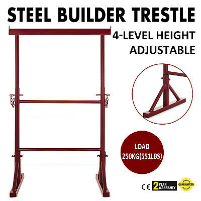 4 Level Height Adjustable Steel Builder Trestle Bricklayer Construction Painter