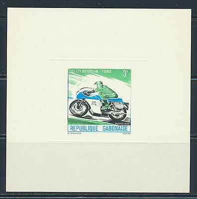 Gabon Deluxe Proofs 1976  Motorcycle Set Of 5 Nice