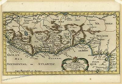 Guinea 1699 Sanson Mercator Antique Map 35695