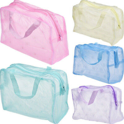 Transparent Waterproof Cosmetic Bag Toiletry Bags Skin Care Makeup Bag Organizer
