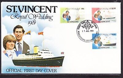 St Vincent 1981 Royal Wedding Charles & Diana  First Day Cover