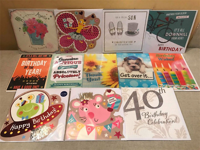 72 Greeting Cards Top Quality Birthday 3D Kids Shop Joblot Wholesale Lot 24
