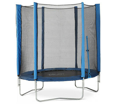 Plum 6ft Trampoline with Enclosure And Safety Pads Blue For Ages 3+