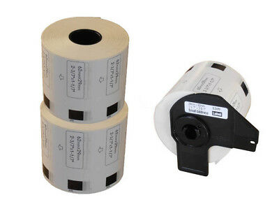 2+1 ROLLS DK11209 DK 11209 BROTHER COMPATIBLE SMALL ADDRESS LABELS 29x62mm