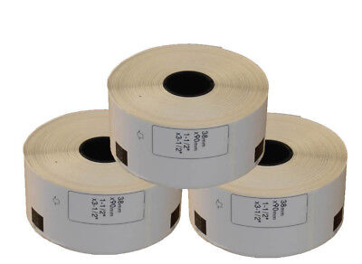 3 REFILL ROLLS DK11208 BROTHER COMPATIBLE LARGE ADDRESS LABELS 38x90mm DK 11208