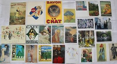 Vintage Mixed Lot of 25 Art Museum European Postcards Cards 4x6 6x6 Unposted