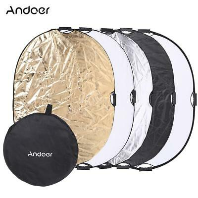 """90*120CM 47"""" 5in1 Photography Multi Collapsible Light Reflector Board Disc Photo"""