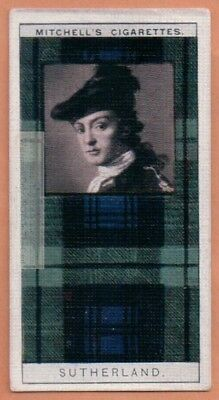 Sutherland Family Clan Celtic Tartan Pattern Scotland Kilt c90 Y/O Trade Ad Card