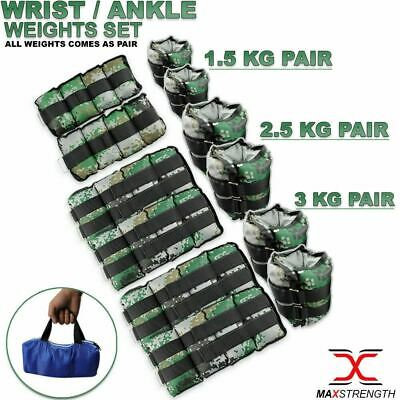 Wrist Ankle Weight Set Fitness Exercise Gym Training Running Adjustable Straps