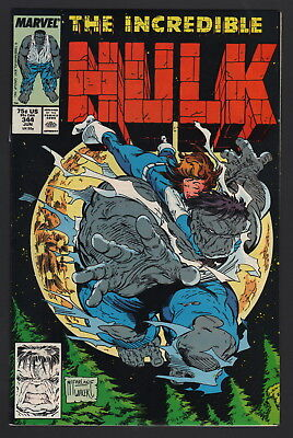 The Incredible Hulk #344, 1988, Nm- Condition Copy