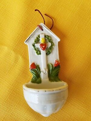 Vintage German Made Small Holy Water Font
